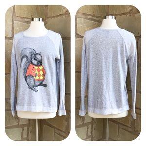 eric + lani Tops - Eric & Lani Squirrel French Terry Sweatshirt Small